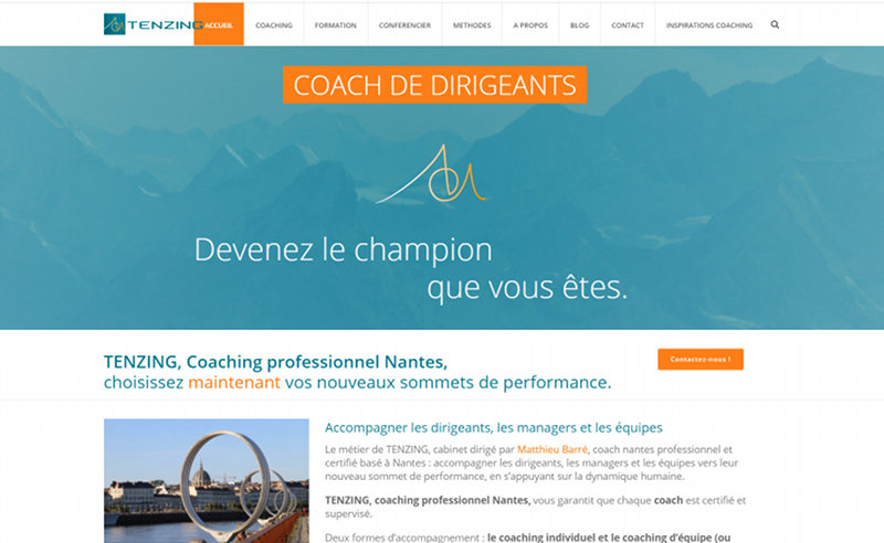 Refonte site Wordpress Nantes Tenzing