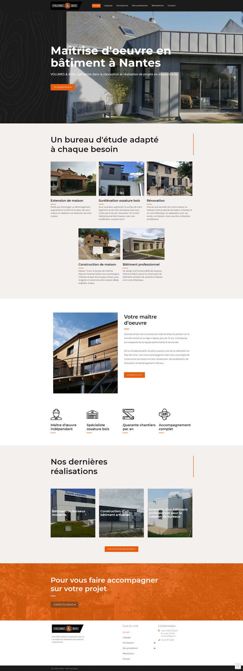 Site WordPress Volumes et Bois