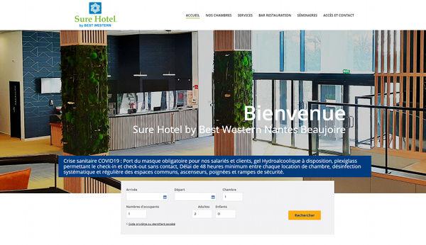 Création site Internet Nantes Sure Hotel