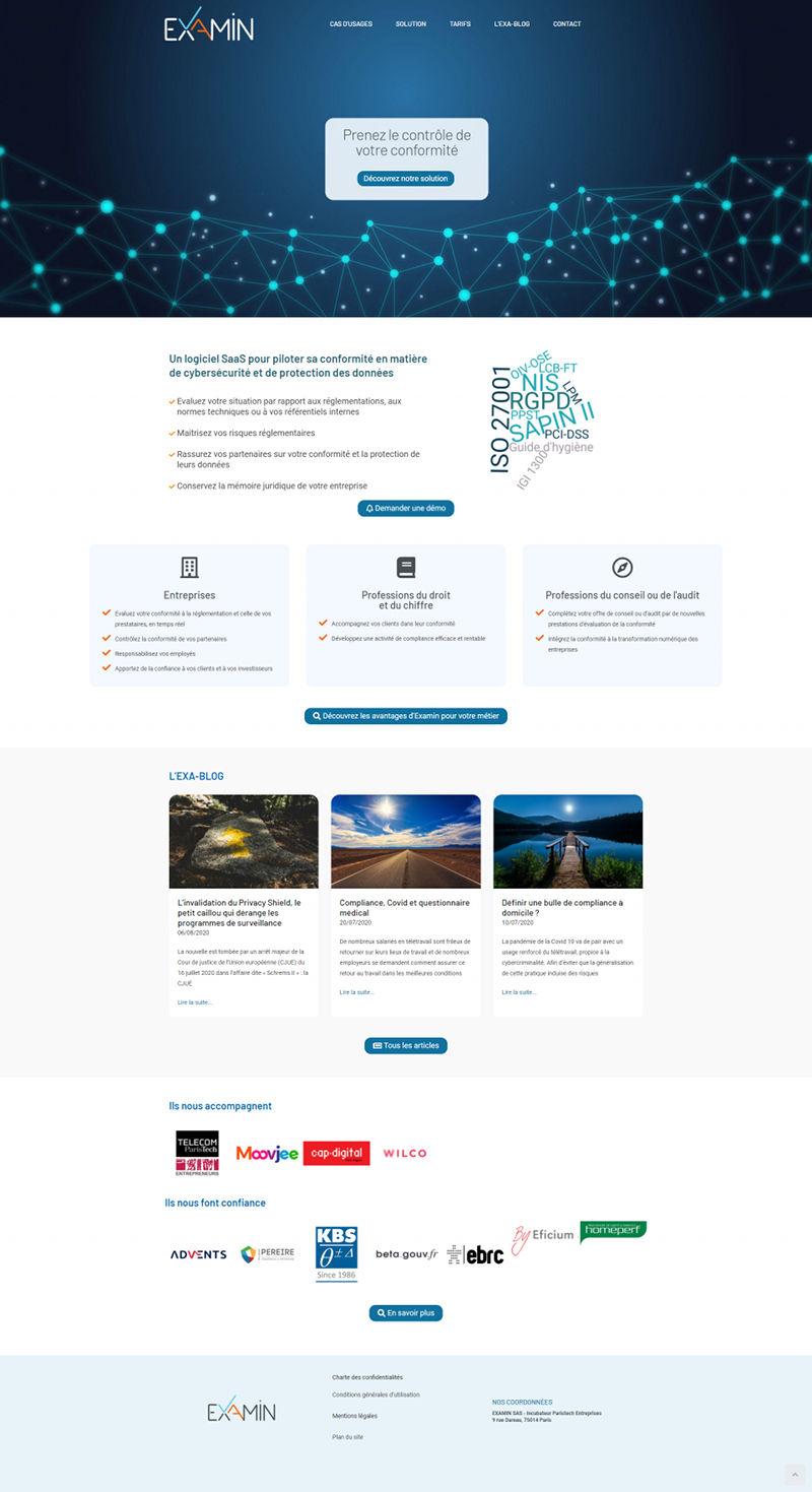 Creation site Internet logiciel conformite Examin