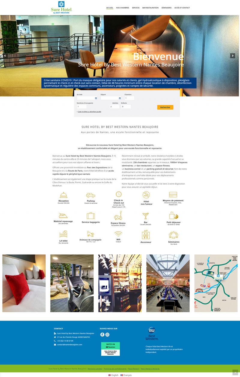 Refonte site Internet Sure Hotel Nantes