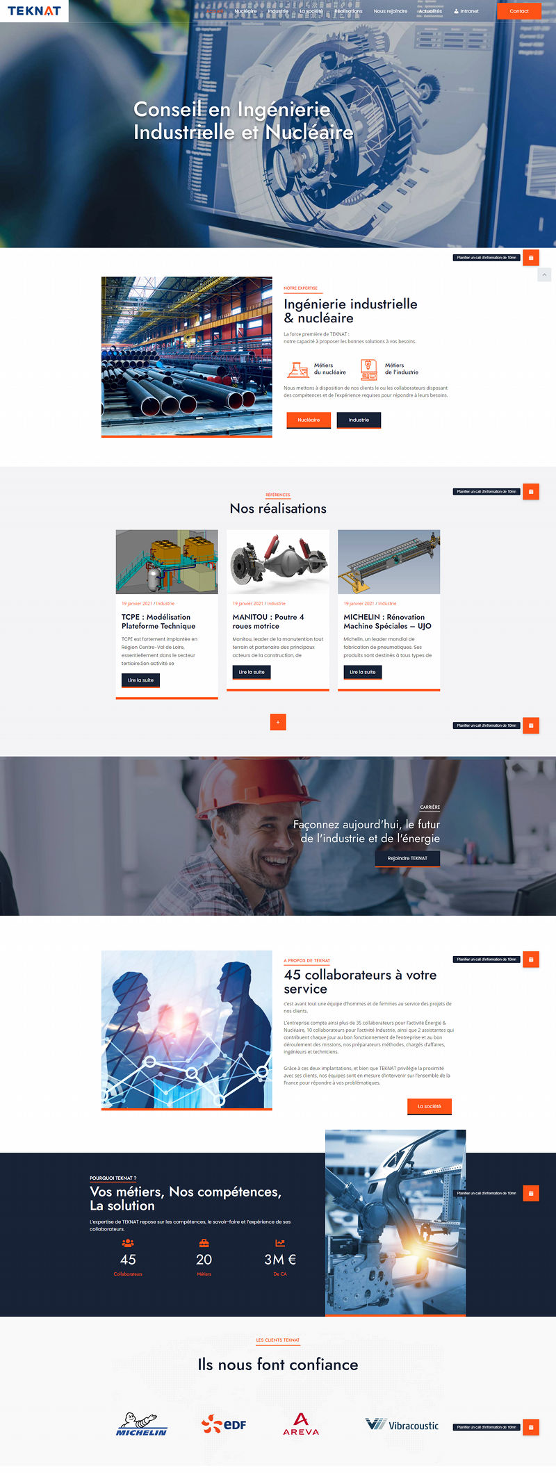Teknat Conseil ingenierie Site WordPress