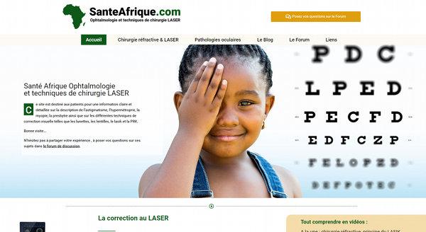 Creation site Web Sante Afrique