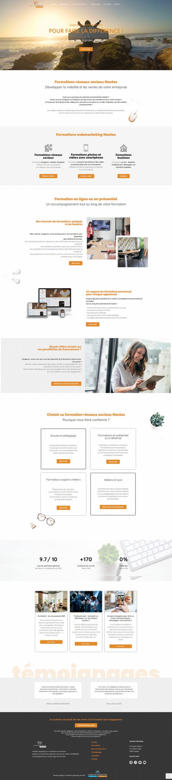 Formation création site internet Nantes