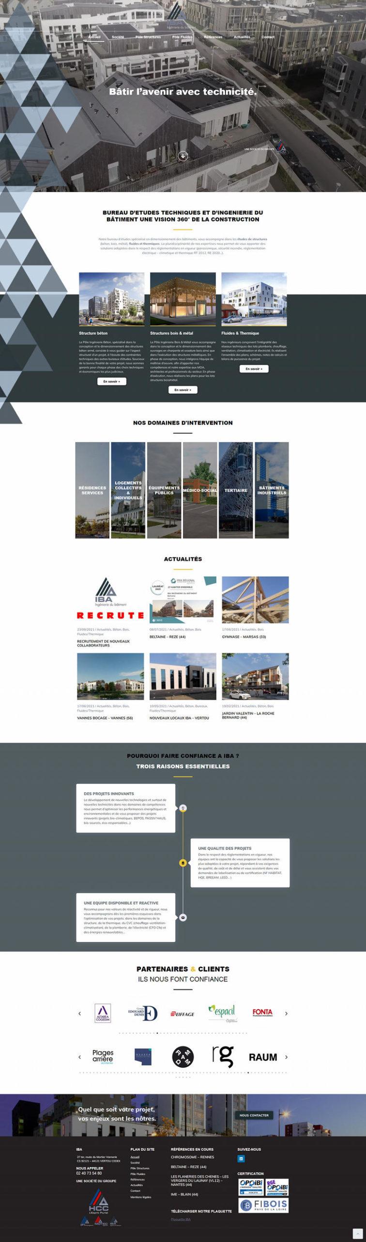 Creation Site Internet IBA Nantes