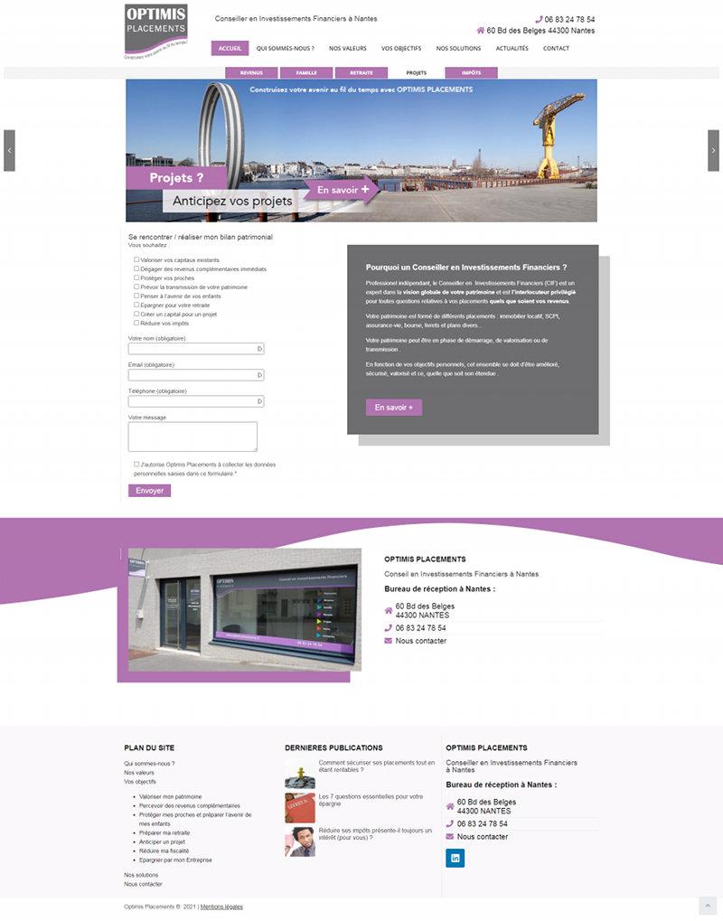 Creation site Web Nantes Optimis Placements